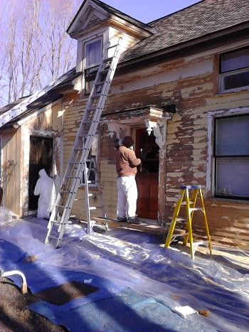 Exterior House Painting of a home in Medway, MA